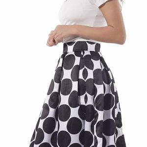 Dresses & Skirts - Elastic High Waist A-line Flared Maxi Skirt Size 8